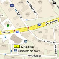 Příjezdová mapa. Zdroj: Mapy.cz